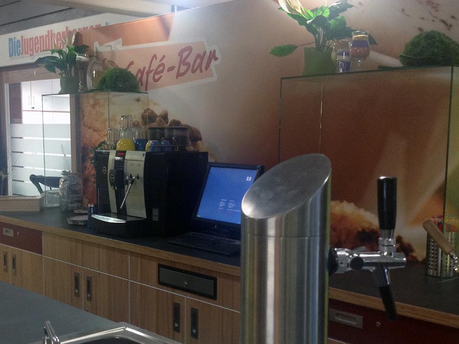 Die Bar des Jugendgästehaus Oberwesel