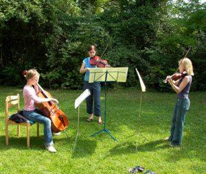 Kammermusik Ensemble während der Probe.