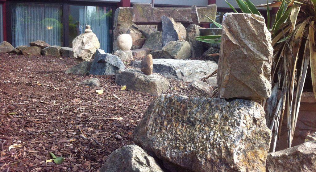 Steine werden zu Skulpturen