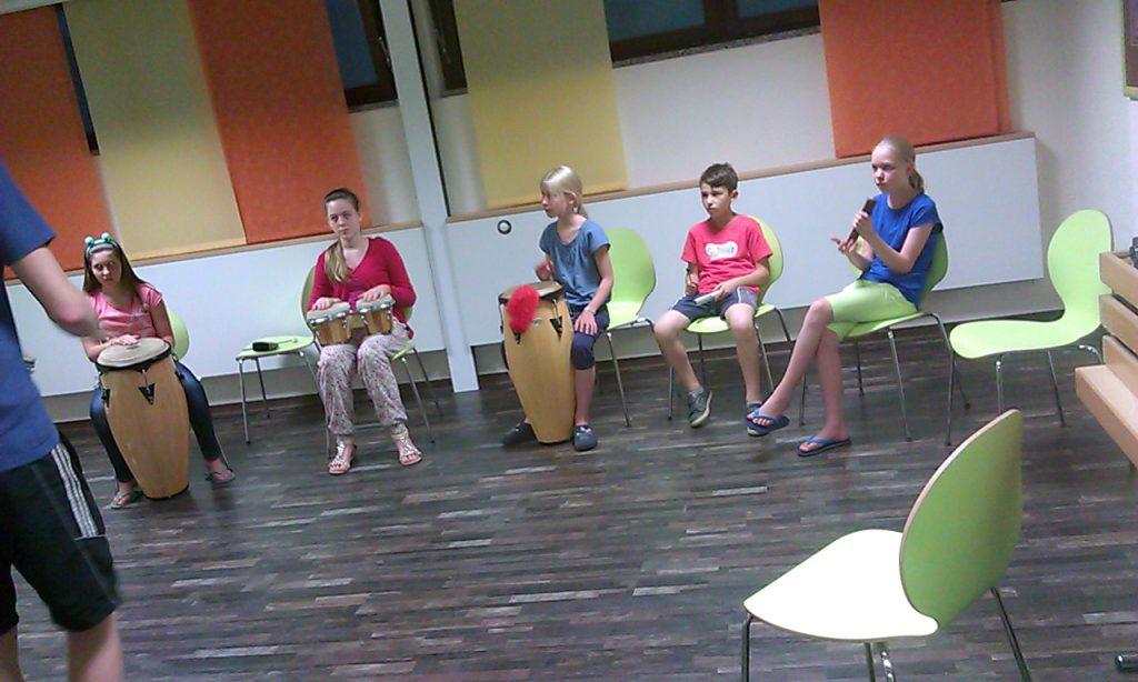Probe während des Percussion Workshop